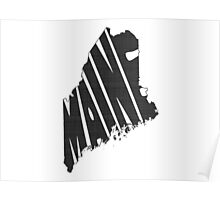 Maine State Word Art Poster