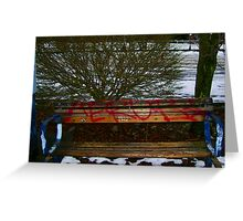 Old Bench Updated Greeting Card
