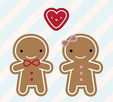 Cookie Cute Gingerbread Couple by marcelinesmith