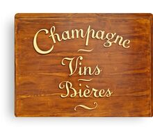 Liquor Store in Paris, Wooden Store Sign  Canvas Print