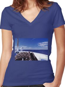 Sailing Forward Women's Fitted V-Neck T-Shirt