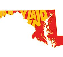 Maryland State Word Art by surgedesigns