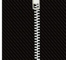 Funny black texture Zipper by waiting4urcall
