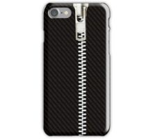 Funny black texture Zipper iPhone Case/Skin