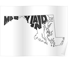 Maryland State Word Art Poster