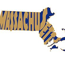 Massachusetts State Word Art by surgedesigns