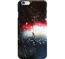 Deatil of raindrops on a car windshield at night iPhone Case/Skin