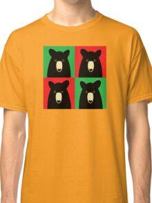 BLACK BEAR ON RED & GREEN Classic T-Shirt