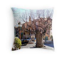 Old elm tree Throw Pillow