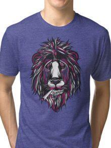 Smoke Lion Tri-blend T-Shirt