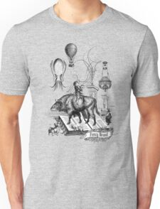 Boy riding buffalo fish by Fancy Brand Unisex T-Shirt