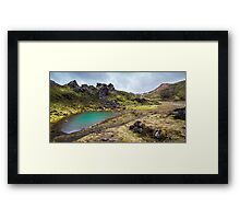 ICELAND:THE EMERALD LAKE Framed Print