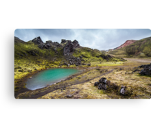 ICELAND:THE EMERALD LAKE Canvas Print