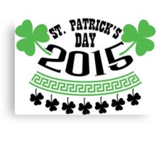 St. Patrick's day 2015 Canvas Print