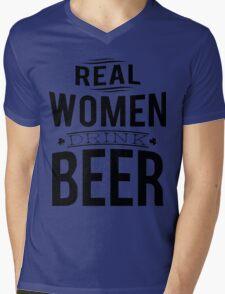 Real women drink beer Mens V-Neck T-Shirt