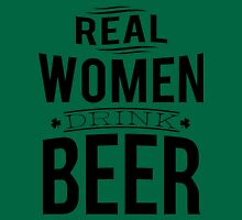 Real women drink beer Womens Fitted T-Shirt