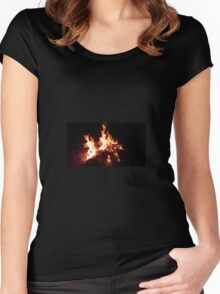 Camp fire Women's Fitted Scoop T-Shirt