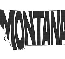 Montana State Word Art by surgedesigns