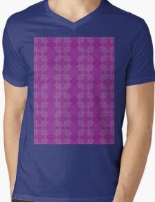 Pink ornament with floral 2 Mens V-Neck T-Shirt