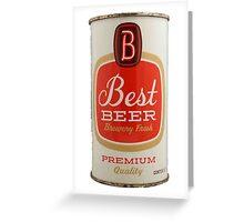 Best beer Greeting Card