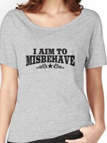 I Aim To Misbehave (Black) Women's Relaxed Fit T-Shirt