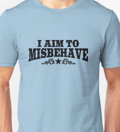 I Aim To Misbehave (Black) Unisex T-Shirt