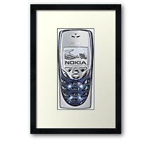 Awesome funny retro phone Framed Print
