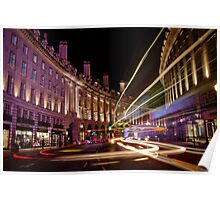 London Regent Street at Night Poster