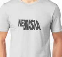 Nebraska State Word Art Unisex T-Shirt