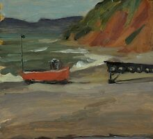 Fishing Boat at Branscombe by JamesMurch