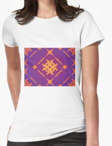 Orange Ornament 2 Womens Fitted T-Shirt