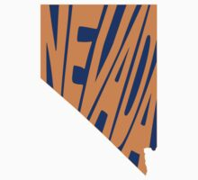Nevada State Word Art One Piece - Short Sleeve