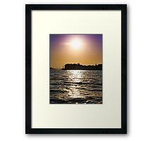 Sunset Over Venice Framed Print