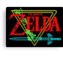 Legend Of Zelda neo Canvas Print