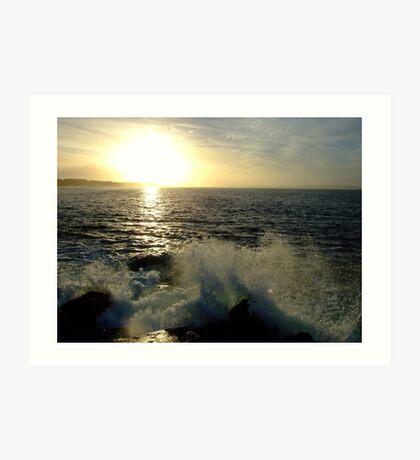 sunset wave Art Print