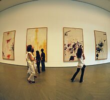 pictures at an exhibitions by Antonio Zarli