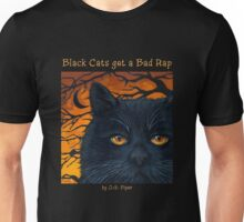 "Black Cats get a Bad Rap - ""The Wind Blows"" Unisex T-Shirt"