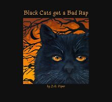 "Black Cats get a Bad Rap - ""The Wind Blows"" Unisex T-Shirt"