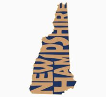 New Hampshire State Word Art Kids Clothes