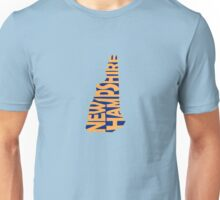 New Hampshire State Word Art Unisex T-Shirt