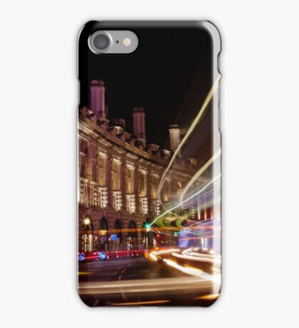 London Regent Street at Night iPhone Case/Skin
