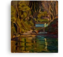 Original Contemporary Oil Painting Fishcombe Bay Canvas Print