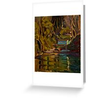 Original Contemporary Oil Painting Fishcombe Bay Greeting Card