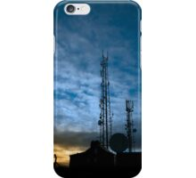 transmission tower on Knockanore hill at dusk iPhone Case/Skin