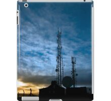 transmission tower on Knockanore hill at dusk iPad Case/Skin