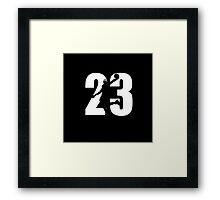 JAMES LEBRON NUMBER 23 CAVALIERS Framed Print