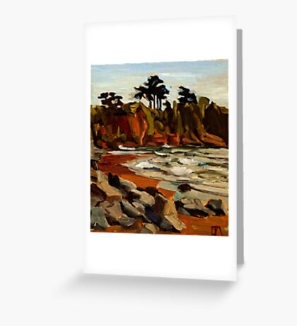A Tramp Along the English Riviera. Greeting Card