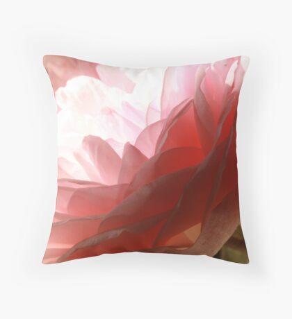David Austin rose, unnamed Throw Pillow