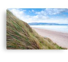 view from dunes at the maharees Canvas Print