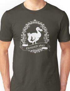 Dodo: Expired 1693 (white) Unisex T-Shirt